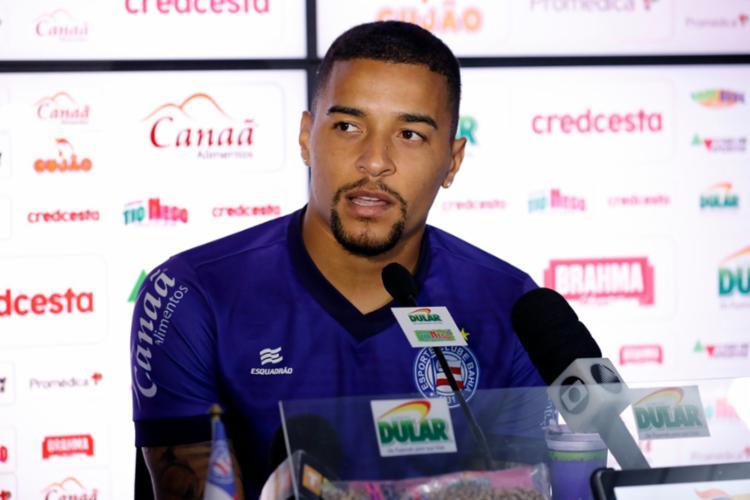 Volante é titular absoluto desde a sua chegada no clube - Foto: Felipe Oliveira | EC Bahia