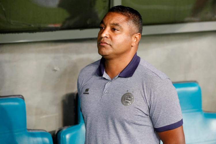 Treinador pontuou que os erros cometidos no duelo do sábado, 5, deverão ser tratados como lições - Foto: Felipe Oliveira   EC Bahia