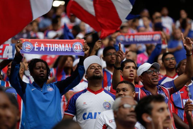 Tricolor ostenta a sexta melhor média de púbico da Série A - Foto: Raul spinassé | Ag. A TARDE