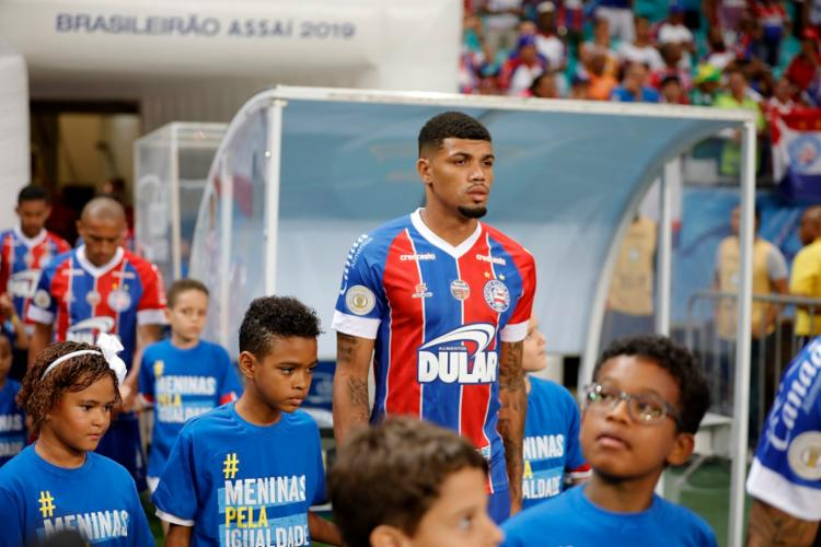Nesta temporada, o zagueiro realizou 20 jogos com pela equipe baiana e anotou um gol. Foto: Felipe Oliveira | EC Bahia - Foto: Felipe Oliveira | EC Bahia