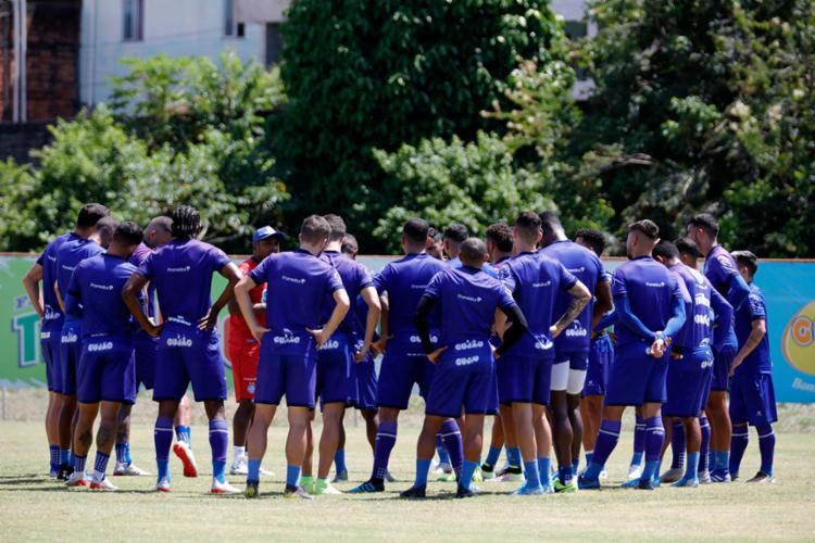 Estacionado nos 41 pontos, o time comandado por Roger Machada busca a reabilitação Foto: Felipe Oliveira | EC Bahia - Foto: Felipe Oliveira | EC Bahia