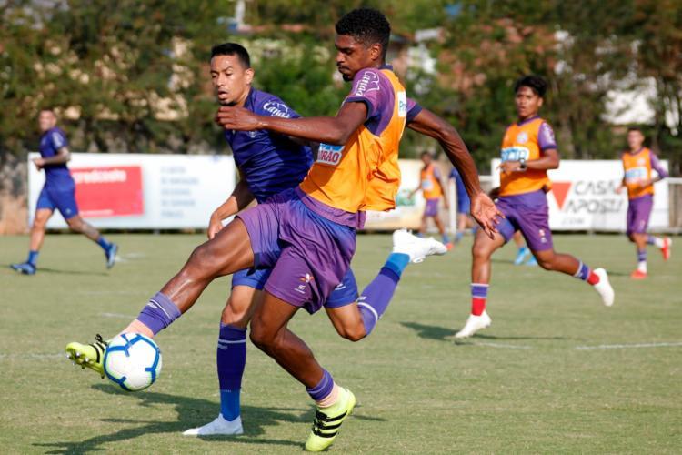 O grupo principal foi superado pelo time de juniores por 2 a 1 - Foto: Felipe Oliveira | EC Bahia