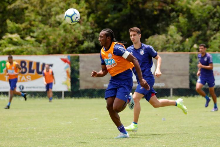 Defensor estava sem atuar devido a uma lesão muscular na coxa - Foto: Felipe Oliveira | EC Bahia