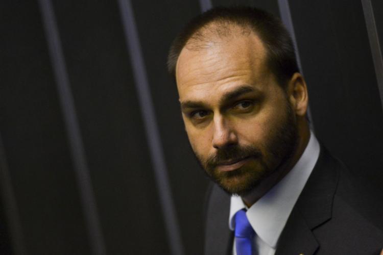 Destituição foi o primeiro ato do filho do presidente após sua confirmação como líder do partido na Casa - Foto: Marcelo Camargo | Agência Brasil | 1.2.2019