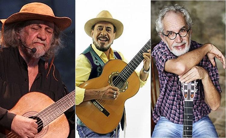 Elomar, Xangai e Renato Teixeira se reúnem nesta quinta-feira, 3, no TCA - Foto: Divulgação