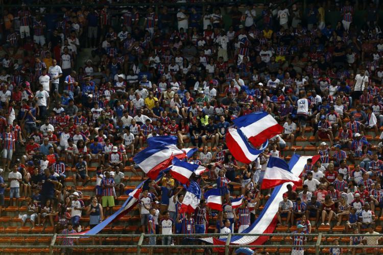 O estádio de Pituaçu apenas cerca de 30 mil lugares e vocês seguem dando um show de associação. - Foto: Felipe Oliveira | EC Bahia