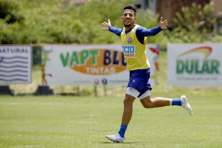 Volante Flávio pediu para equipe não temer time paulista em busca do triunfo - Foto: Felipe Oliveira | EC Bahia