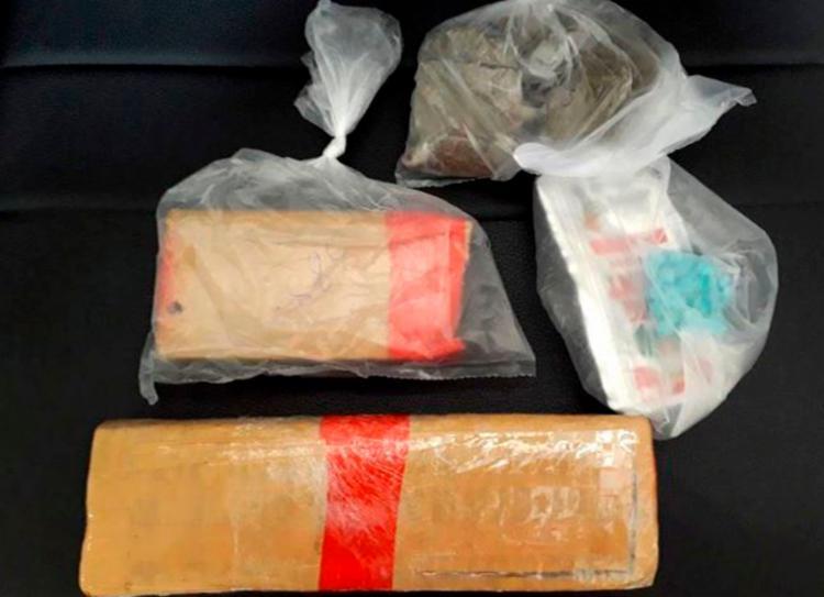 Foram apreendidos mais de um quilo em drogas (Foto: Divulgação | Radar 64)