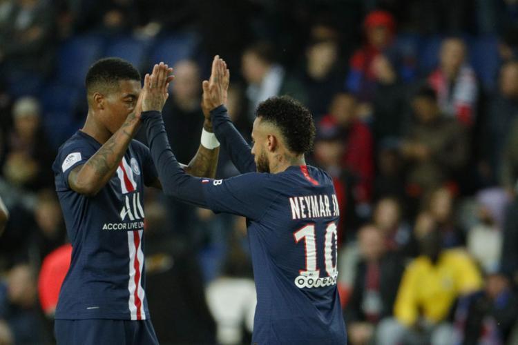 Ainda houve tempo para Neymar fazer o seu gol, outra vez no fim da partida, aos 44 minutos - Foto: Geoffroy Van Der Hasselt | AFP