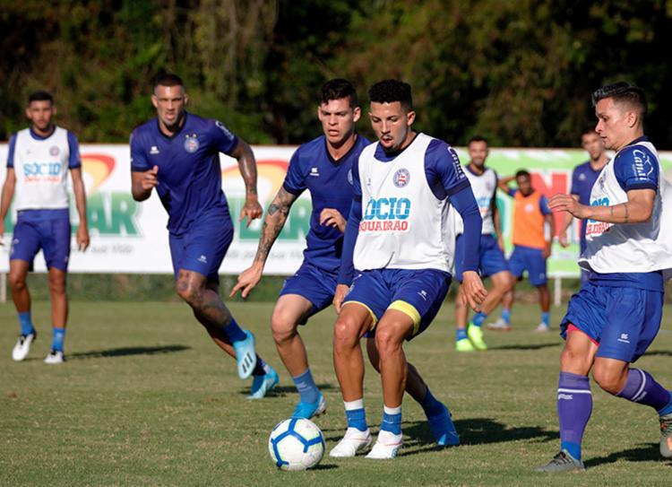 Roger ainda tem dúvidas sobre o time que vai a campo contra equipe gaúcha - Foto: Felipe Oliveira | EC Bahia