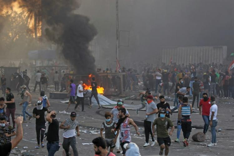 Protestos tiveram início na capital, Bagdá, no dia 1º - Foto: AFP