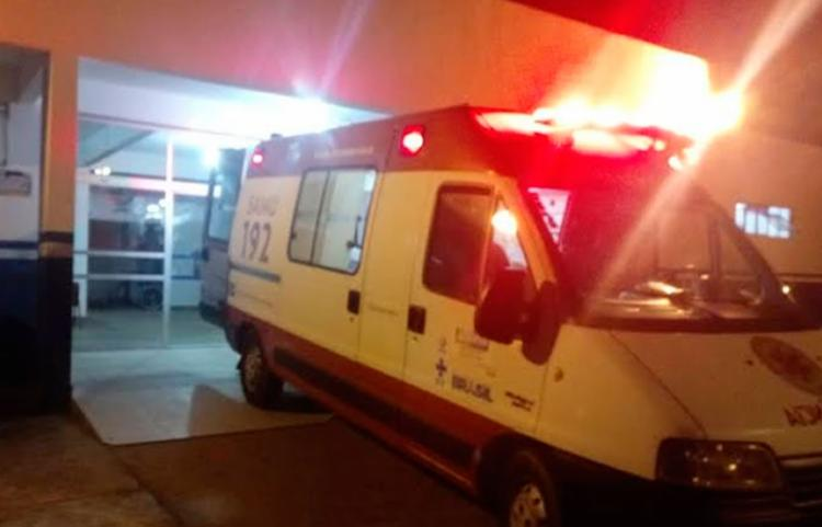 Samu prestou os primeiros socorros à vítima - Foto: Reprodução | Teixeira Hoje