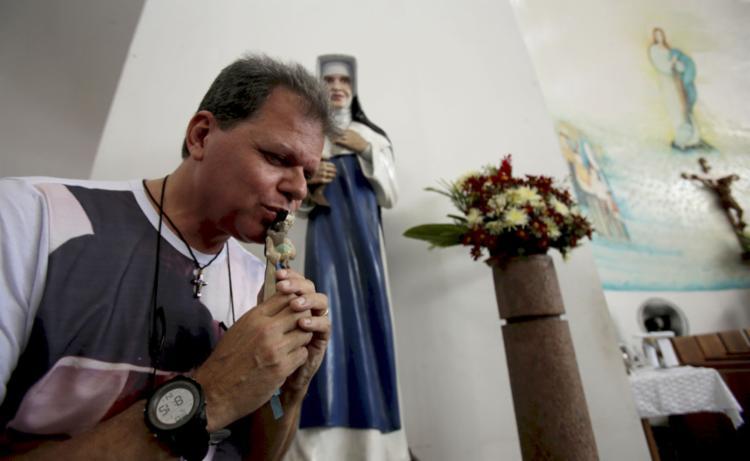 Cego durante 14 anos, José Maurício Moreira foi curado pelo milagre da Santa Dulce dos Pobres - Foto: Joá Souza   Ag. A TARDE   1.7.2019