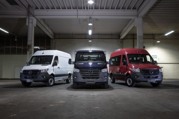 Novos furgões, vans e chassis Sprinter - Foto: Divulgação