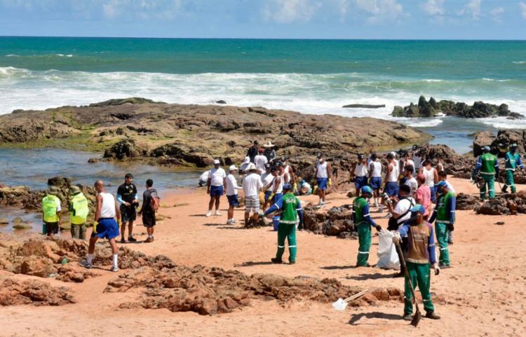 Até o momento, já foram retiradas 90 toneladas de material em 15 praias - Foto: Divulgação | Secom