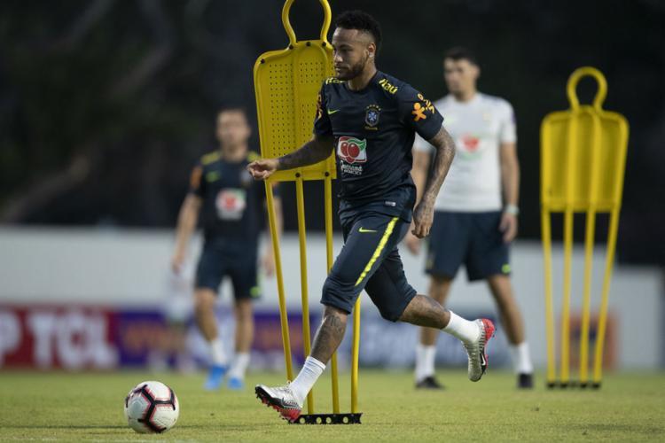 Atacante Neymar fará a centésima partida com a Amarelinha em Singapura - Foto: Lucas Figueiredo l CBF