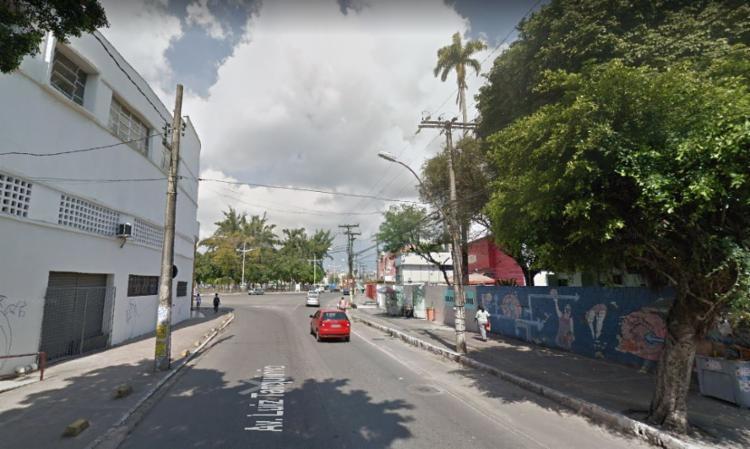 Apenas uma das faixas da Avenida Luiz Tarquínio ficará liberada - Foto: Reprodução   Google Maps