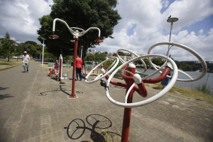 Áreas verdes dos parques públicos beneficiam a qualidade de vida - Foto: Raul Spinassé | Ag. A TARDE