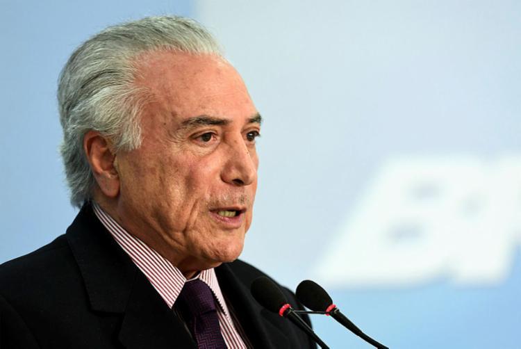Denúncia tomou como base o áudio de uma conversa entre Temer e Joesley Batista - Foto: Evaristo Sá | AFP