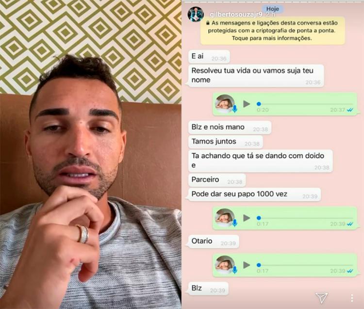Atacante falou das ameaças sofridas nos stories do Instagram