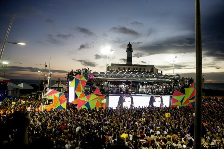 Farol da Barra no Carnaval de Salvador em 2019 - Foto: Uendel Galter | Ag. A TARDE
