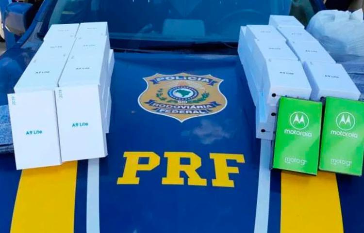 Nenhuma das mercadorias possuía nota fiscal - Foto: Divulgação | PRF