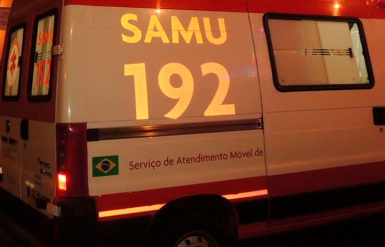 Samu esteve no local para prestar socorro à vítima - Foto: Reprodução | Achei Sudoeste