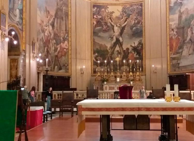 Igreja de Sant´Andrea della Vale recebe primeira missa em honra a Santa Dulce dos Pobres - Foto: Cleidiana Ramos | Ag. A TARDE
