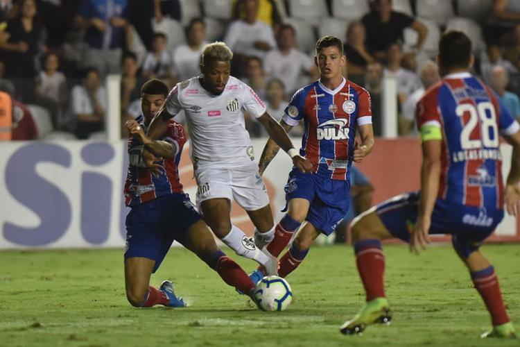 O Peixe marcou o gol de pênalti após Marinho sofrer falta de Juninho na área - Foto: Ivan Storti | Santos FC
