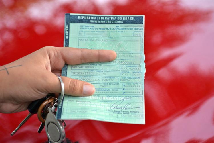 Documento pode ser regularizado com 70% de desconto sobre o valor da multa - Foto: Shirley Stolze | Ag A Tarde