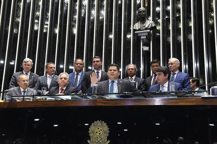Texto-base passou por 60 votos a 19 - Foto: Roque de Sá l Agência Senado