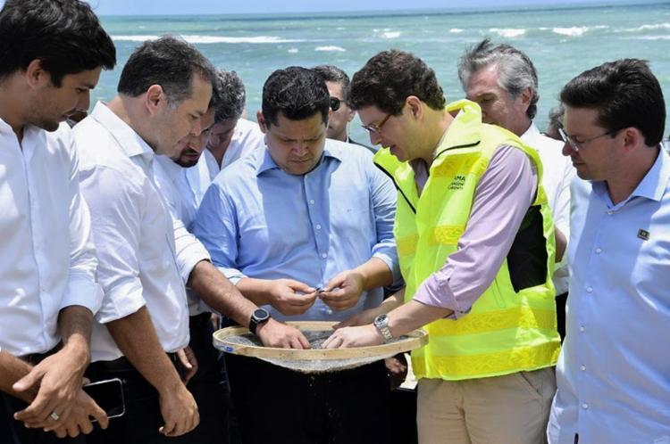 Davi Alcolumbre esteve no Nordeste junto com o Ministro do Meio Ambiente, Ricardo Salles - Foto: Marcos Brandão | Senado Federal