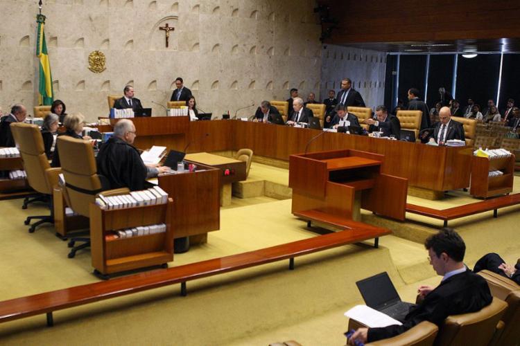 A questão foi decidida na sessão desta tarde após três horas de debate - Foto: Nelson Jr. l STF
