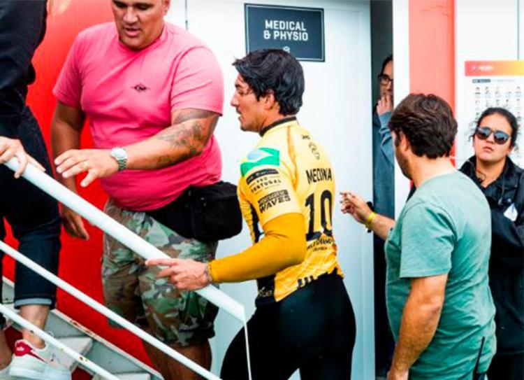 Medina foi punido e eliminado por interferência - Foto: Divulgação   WSL