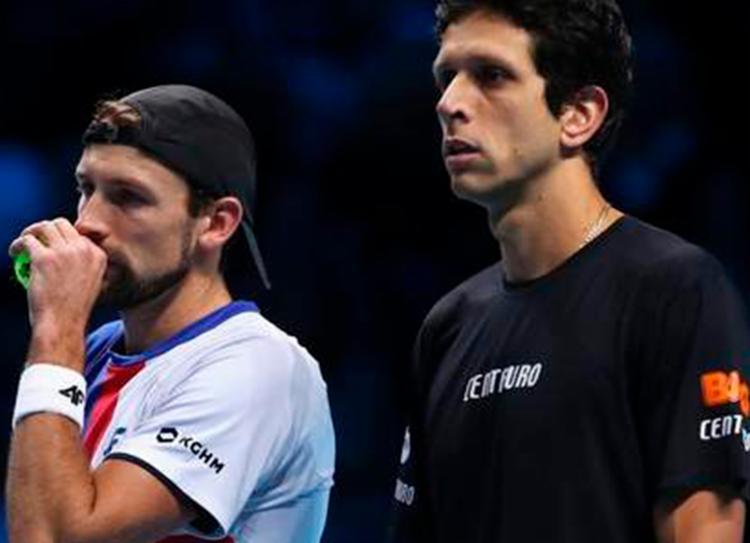 Brasileiro e polonês foram batidos por Maximo González e Austin Krajicek - Foto: Reprodução