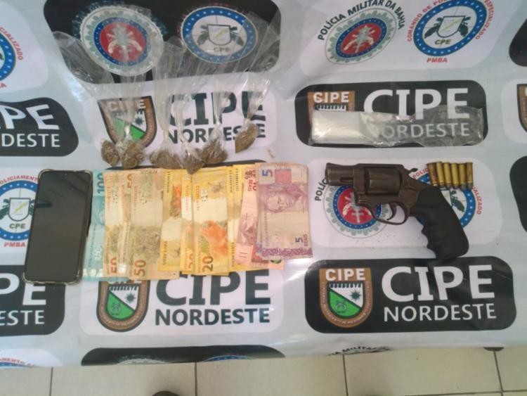 Material apreendido durante a ação da PM - Foto: Divulgação | SSP