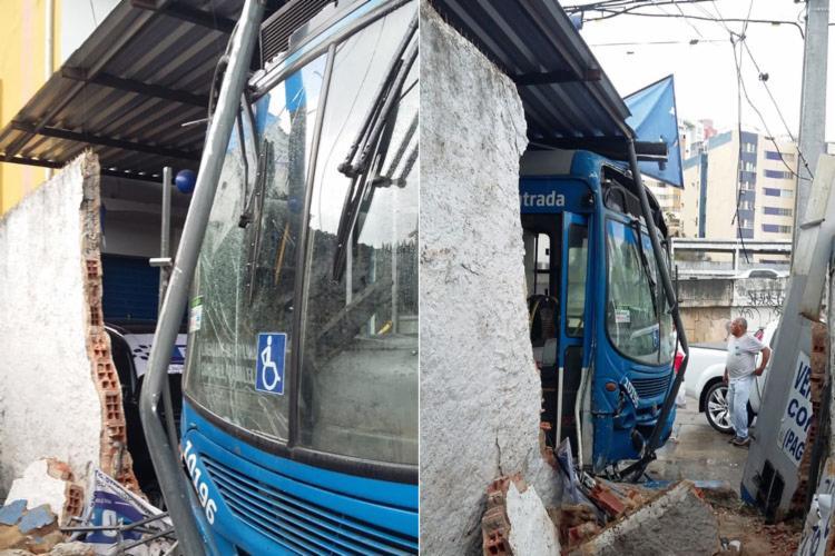 Região frontal do veículo ficou danificada - Foto: Shirley Stolze | Ag. A TARDE