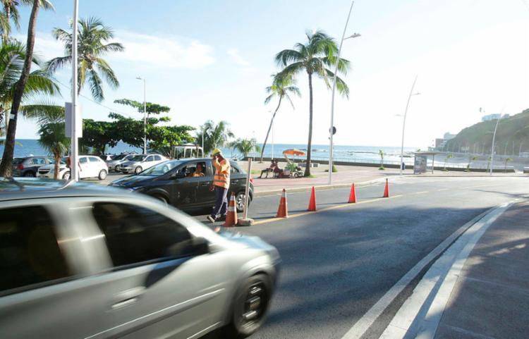 Interdições são realizadas no Comércio, Barra e Marechal Rondon - Foto: Uendel Galter / Ag. A TARDE