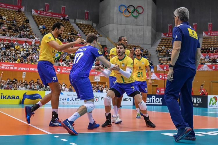 O Brasil soma 15 pontos e lidera a tabela entre as 12 seleções participantes - Foto: Divulgação | FIVB