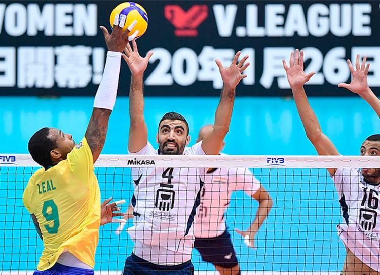 Brasil bateu egípcios por 3 sets a 1, com parciais de 25/19, 21/25, 25/19 e 25/22 - Foto: Divulgação   FIVB