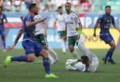 Bahia empata com o Palmeiras e mantém jejum na Fonte Nova | Foto: Uendel Galter