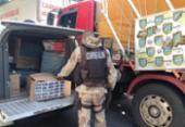 Duas toneladas de cigarros são apreendidas em São Gonçalo do Campos | Foto: Divulgação | PM