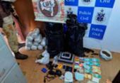 Foragido por tráfico é encontrado com armas, drogas e cheques | Foto: Divulgação | SSP