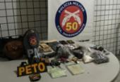 Universitária e cúmplices são presos por roubo, tráfico e extorsão | Foto: Divulgação | Polícia Civil