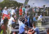 Caminhoneiros protestam contra veículos retidos na BR-324 | Foto: Reprodução | TV Bahia