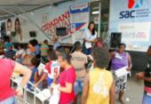 SAC Móvel oferece serviços da Justiça Eleitoral em Simões Filho | Foto: Luciano da Matta | Ag. A TARDE