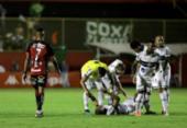 Vitória perde de virada e vê Coritiba festejar acesso no Barradão | Foto: Uendel Galter / Ag. A TARDE