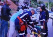 Duas mulheres ficam feridas em acidente na Via Regional   Reprodução   Rede Bahia