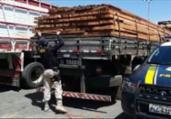 Carregamento de madeira ilegal é apreendido na Bahia | Divulgação | PRF