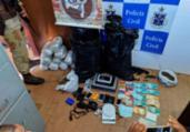 Foragido por tráfico é encontrado com armas e drogas | Divulgação | SSP